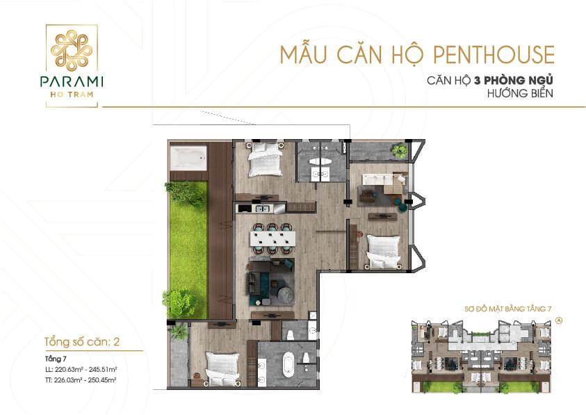 Dự Án Parami Hồ Tràm: Penthouse