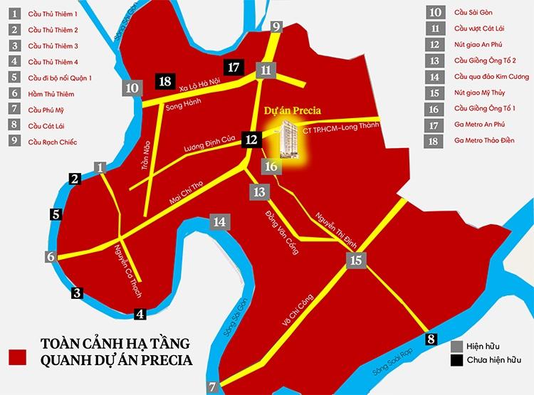 Thành phố phía Đông - Quận 2: Precia An Phú