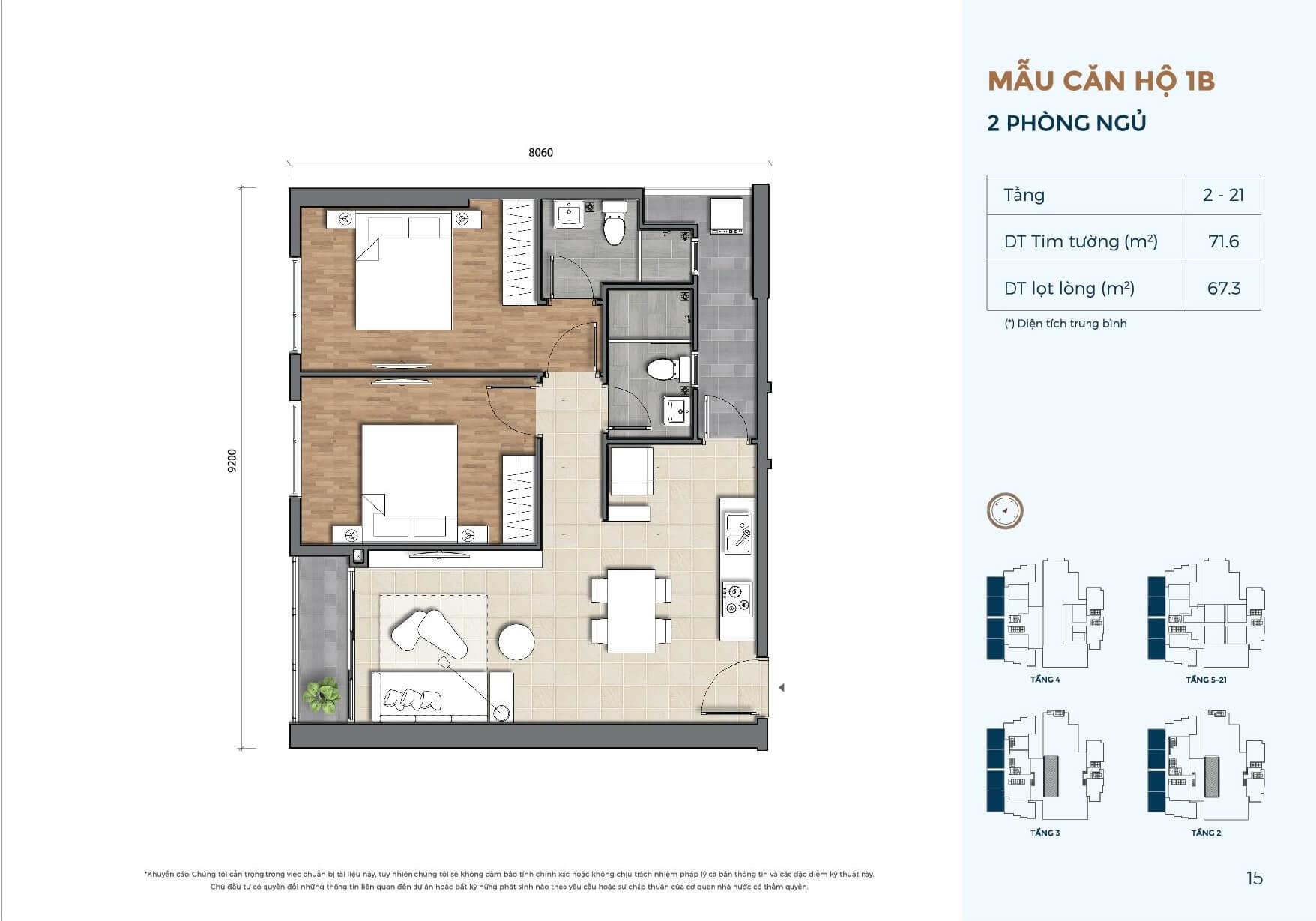 căn hộ chung cư 2 phòng ngủ Precia An Phú Quận 2