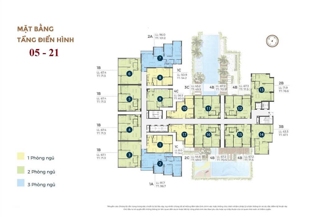 mặt bằng tầng căn hộ chung cư Precia An Phú Quận 2